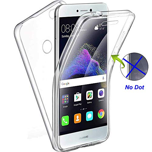 Nadoli 360 Degres Full Body Coque Case Cover Clear Transparent Ultra Slim Silicone Gel Case Intégral Protection Anti-Rayures Coque Housse pour Huawei P8 Lite 2017