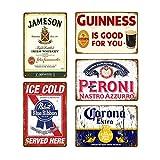 Makkalensau 5 Stück Vintage Bier Whisky Plakette Retro