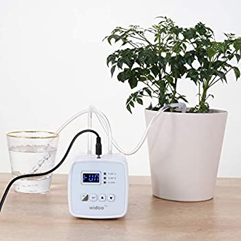 ootrades Double Pump Automatic Watering System DIY Drip Tape Irrigation Kit Self Watering System with Timer 0-40 Days Interval Programming Vacation Plant Watering Devices for Indoor Potted Plants