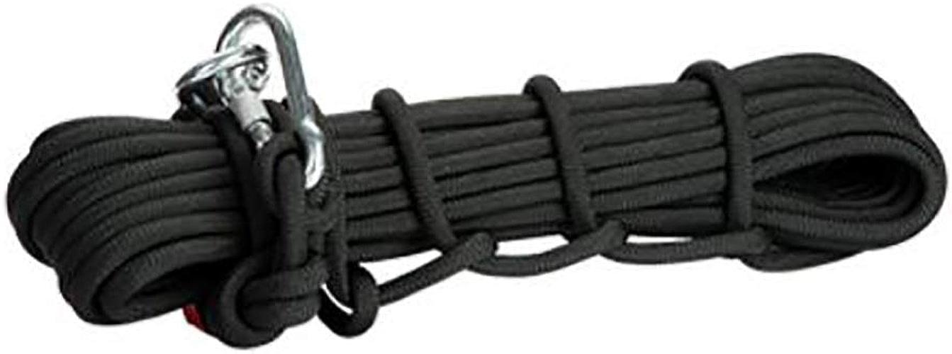LIZIPYS Cordes Corde d'escalade Corde de cable Corde d'urgence Corde auxiliaire de sécurité 8   10mm Longueur 10 15 20 30 40 50 60 70 80 90 100   Camping Escalade Alpinisme Route Plongée Noir
