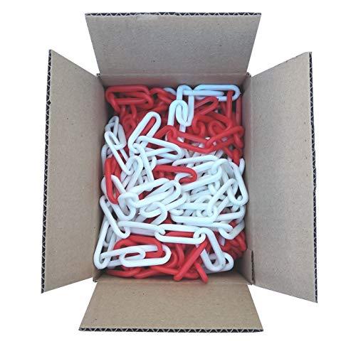SNS SAFETY LTD Kunststoffkette Absperrung 6 mm, Rote Weiße, 12,50 Meter