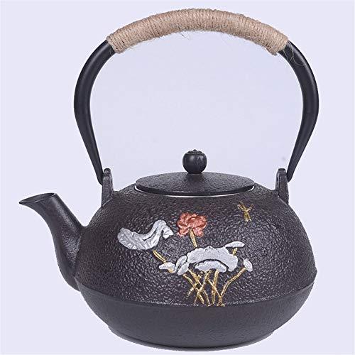 M-CH Tetera Tetera Tetsubin Tetera Japonesa Tetera de Hierro Fundido Kung Fu té pote del Recorrido Caldera de té con el Acero Inoxidable infusor/colador de 1200 ml