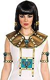 Forum Novelties Women's 2-Piece Deluxe Egyptian Collar, Gold, One Size