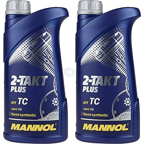 QR-Parts Set 85447349 MN7204-1 2x1 Liter MANNOL 2-Takt Plus API TC Öl Motorradöl Scooter Teilsynthetisch