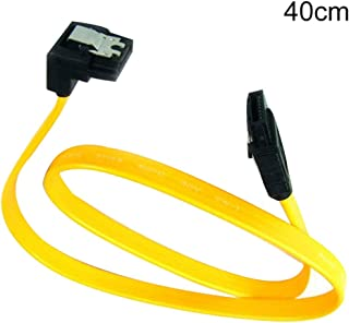 bjduck99 Right Angle SATA ATA 1.5/3GB 7 Pin Locking Clip Adapter Converter Data Cable - Yellow