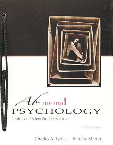 ABNORMAL PSYCHOLOGY (LOOSE)-W/