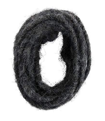 Rayher 55888572 Wollkordel mit Drahtkern, für Floristik und Bastelarbeiten, 5 mm, anthrazit