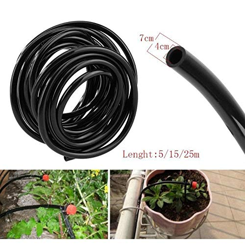 Watering Hose 4 / 7mm PVC Micro Druppelbuis Tube Plants Flower Sprinkler Pipe Tuinslang Greenhouse Irrigeren System 5m-50m (Size : 20m)