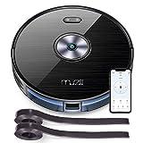 Aspirateur Robot, Muzili Aspirateur Puissant Wi-Fi Alexa Télécommande d'App Sec et Humide Silencieux Chargement Automatique Parfaite pour Poils d'Animaux [Classe énergétique A +++]