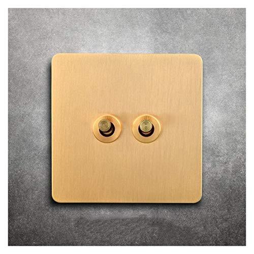 86 Tipo de Interruptor de Interruptor Retro Palanca de latón Interruptor Vintage Antique Estilo Industrial Interruptor de Pared Interruptor Lighture Dual Control Control de 2 vías para Tienda de Ropa