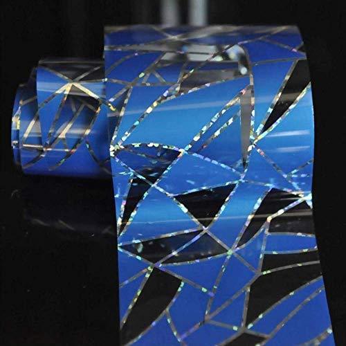 Nailart - Nagelfolie - Transferfolie - Blau/Silber/Transparent - 1400-161