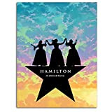 Hamilton American Musical Canvas Posters Broadway,Star of Sister Skyler Picture for Living Room 12x16inch