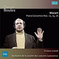 モーツァルト : ピアノ協奏曲 第21番 | 第26番 「戴冠式」 | 第25番 (Mozart : Piano Concertos No.21, 25, 26 / Pierre Boulez, Yvonne Loriod & Orchestre de la societe des concerts Lamoureux) (2CD) [Live Recording] [日本語帯・解説付]
