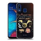 Head Case Designs Licenciado Oficialmente Harry Potter Todo lo Que Quiero para Navidad Reliquias de la Muerte XXXII Carcasa rígida Compatible con Samsung Galaxy A20 / A30 2019