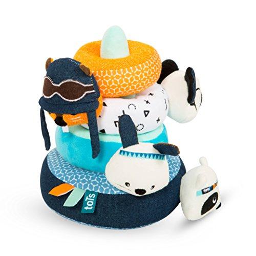 Tots by Smart Rike 530–100 Anneaux de Tots Fur Ever, empilable pour bébé Multicolore