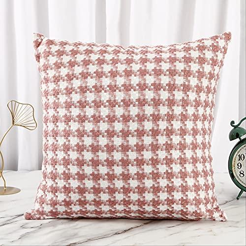 Cojín de rejilla para salón, cojín de sofá, cojín multiusos, 30 x 50 cm, color rosa 4