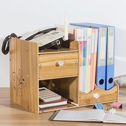 Bureau Bureau Boîte de rangement Boîte de rangement Boîte Fournitures de bureau Racks Boîte de rangement en bois Creative Debris (couleur : N ° 4)