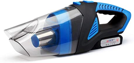 Portable Car Vacuum Cleaner by Wireless Charging High Power 120W Household Car Cordless Wet and Dry Car Vacuum Cleaner (Color : Blue)