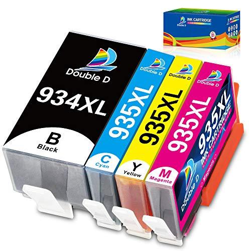 DOUBLE D 934XL 935XL Cartucce d'inchiostro per HP 934 935 XL Compatibile per HP Officejet Pro 6230 6830 6835 6820 6220 6812 6815 (1 Nero, 1 Ciano, 1 Magenta, 1 Giallo)