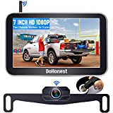 DoHonest Wireless Backup Camera with 7 Inch Monitor System HD 1080P Bluetooth Backup Camera Stable Digital Signals for Trucks Pickup Car Camper Van, Support Add Second RV Rear View Camera - V29