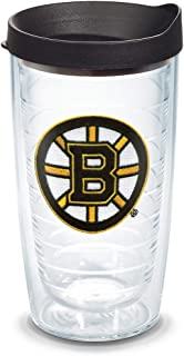 Tervis NHL Boston Bruins Primary Logo Tumbler with Emblem and Black Lid 16oz, Clear