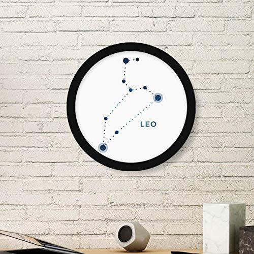 DIYthinker Leo sterrenbeeld teken dierenriem ronde fotolijst kunst afdrukken van schilderijen Thuis muursticker Gift