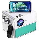 Proyector WiFi Bluetooth, TOWOND Full HD 1080P Proyector de Cine en casa, 7000 lúmenes y Pantalla de 300 Pulgadas, Compatible con HDMI,USB,Laptop