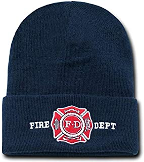 Rapid Dominance Military and Law Enforcement Embroidered Cuff Beanie - Fire Dept