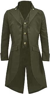Mens Medieval Jacket Pirate Costume Tailcoat Viking Renaissance Adult Steampunk Gothic Victorian Tuxedo Halloween Coats