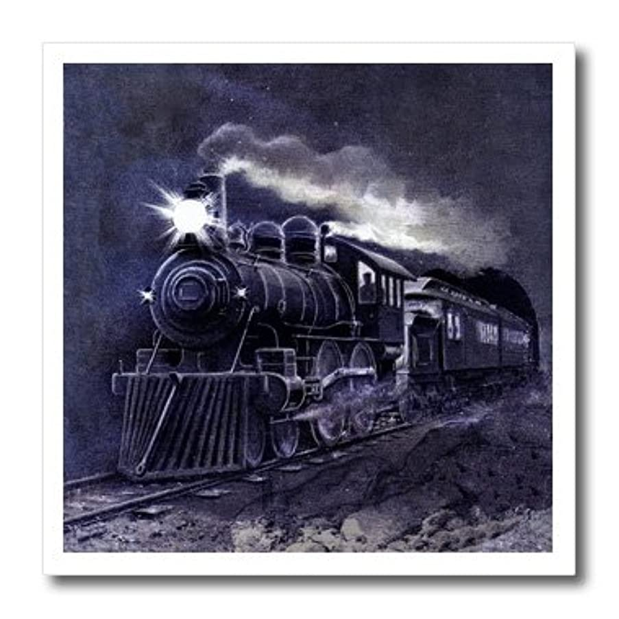 3dRose Train in The Night Vintage Travel Art-Iron on Heat Transfer, 10 by 10