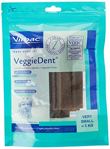 Virbac 3597133065244 VeggieDent XS Limpiador Dental para Perros hasta 5 kg