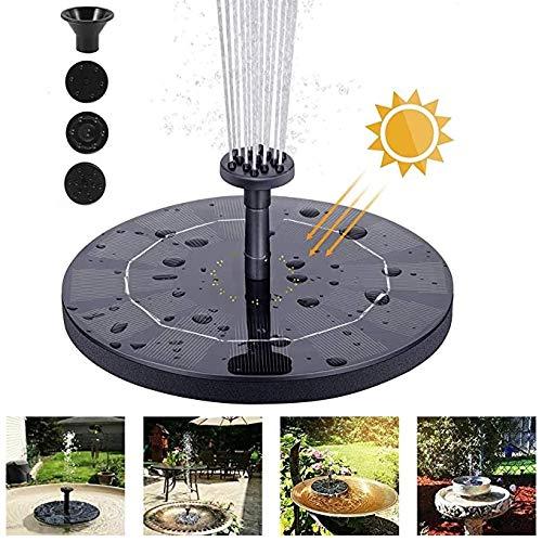 Unbekannt Solarbrunnen-Pumpe, 2,5 W Kreis Solarwasserpumpe Schwimm Brunnen mit 6 Düsen, for Vogel-Bad, Aquarium, Teich oder Garten-Dekoration