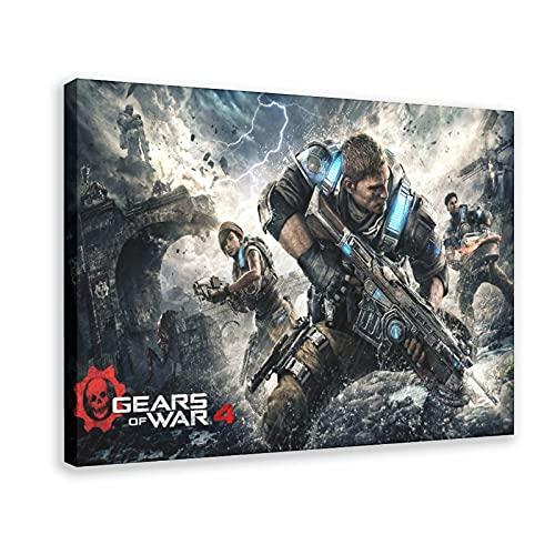 Gears of War 4 Videojuegos Clásicos 1 Lienzo Póster de pared Decoración de cuadros para sala de estar, dormitorio, marco de decoración de 50 x 75 cm