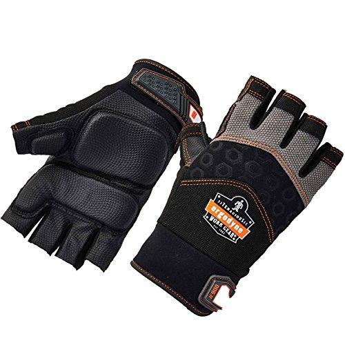 Ergodyne ProFlex® 900 Half-Finger Impact Gloves, Black, L