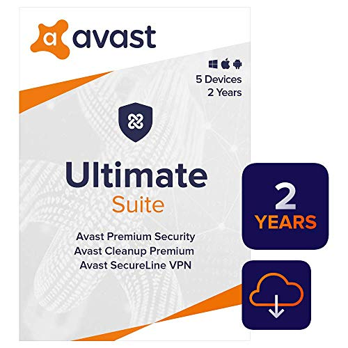 Avast Ultimate 2020 | Antivirus+Cleaner+VPN | 5 Devices, 2 Years [PC/Mac/Mobile Download]