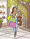 Chicas de dibujos animados libro para colorear 1 & 2