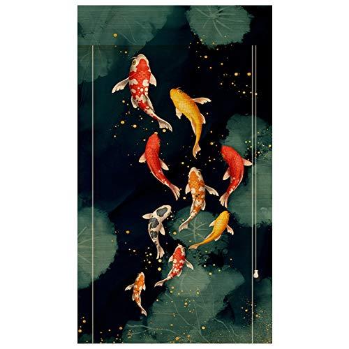 YNGJUEN Bambusrollos, Bambusrollos mit Lifters, glatt, Gratfreie, Einstellbarer Holz, im japanischen Stil Blackout Vorhänge for Teehäuser (Color : 90x220cm)