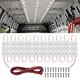 Nilight 60Leds Van Interior Light Kits 12V White Led Ceiling Lighting Kits for Truck Van RV Boats Caravans Trailers Lorries Transit (20 Modules, White), 2 Years Warranty (TL-39)