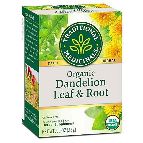 Traditional Medicinals Tea, Organic Dandelion Leaf and Root Tea, 16 Bags