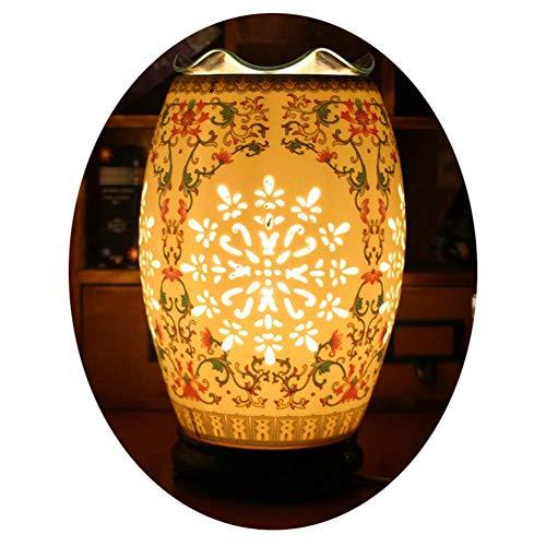 LNDDP Lampada da Tavolo Elettronica in Ceramica per aromaterapia - Diffusore di Olio Essenziale di aromaterapia - Adatto per Lampada da Notte Cava da Comodino Camera da Letto dimmerabile
