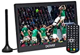 Denver LED-1032 10' Small Portable TV with Freeview & HDMI IN | 12 Volt TV for Motorhome, Caravan, Car and Camping | Kitchen TV | Built-In Rechargeable Battery, Car Power or Mains Power