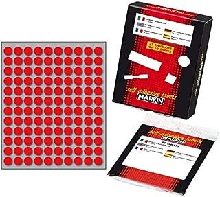 5 10004RO 10 fogli x120 etichette//foglio Etichette Markin adesive Ttonda dimaetro 10 rosso