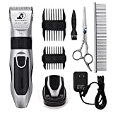 Dog Grooming Clippers - Cordless Quiet Pet Hair Clippers Trimmer...