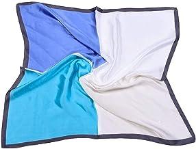 SLM-max sjaal vrouwen,70cm vierkante sjaal stiksels contrast eenvoudige kleine sjaal dames professionele simulatie zijde m...
