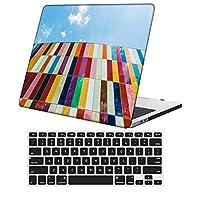 YixiuGG 切り抜きデザインプラスチック製のウルトラスリムライトハードケースキーボードカバー互換性のある古いMacBook Air 13インチ2010-2017リリースタッチIDなし、モデルA1369 / A466、花 B 0939