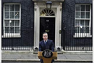 Media Storehouse 12x8 Print of Britain s Prime Minister David Cameron Speaks Outside Downing Street in (19523577)