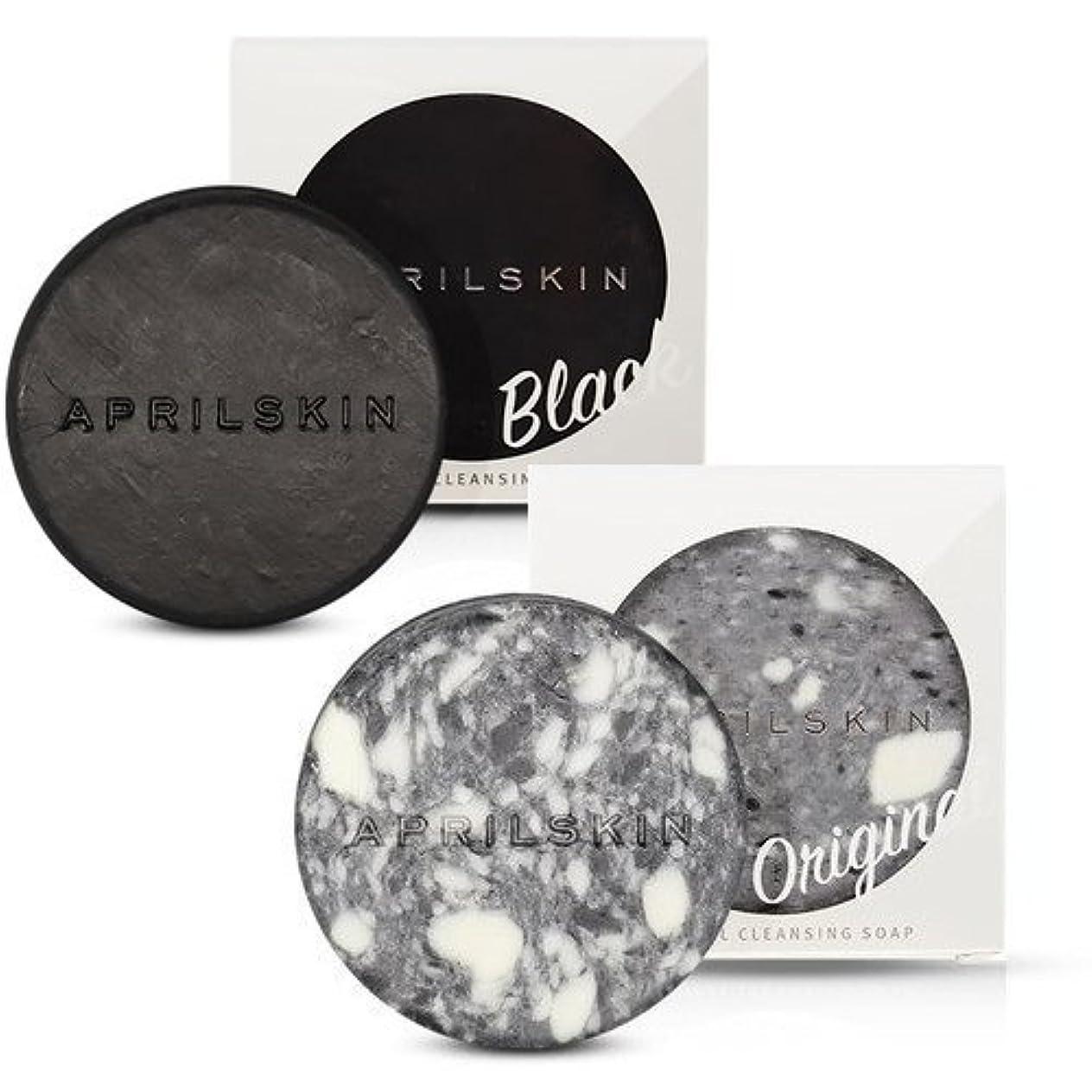 印をつける乏しい原子炉[1+1][APRILSKIN] エイプリルスキン国民石鹸 (APRIL SKIN マジックストーンのリニューアルバージョン新発売) (ORIGINAL+BLACK) [並行輸入品]
