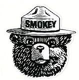 Keen Smokey The Bear Vinyl Decal Sticker|Cars Trucks Vans Walls Laptops|Full Color|4.5 in|KCD756