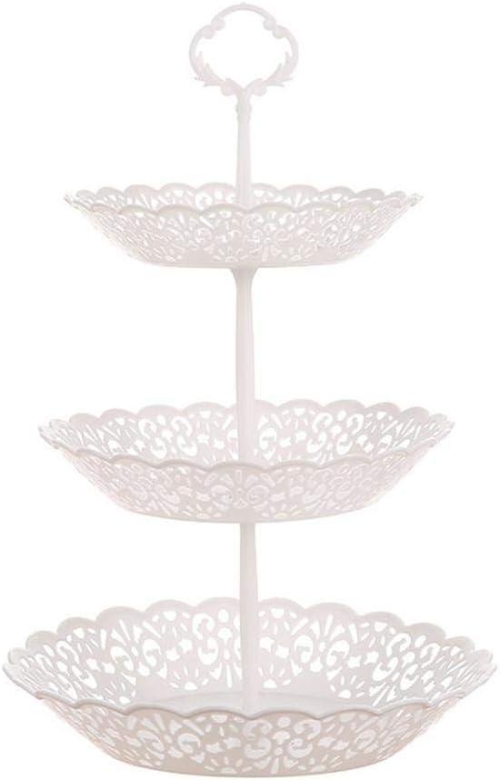 Vaskey 3-Tier Cupcake Stand Plastic F Austin Mall Cakes Desserts Cheap bargain Plate Fruit