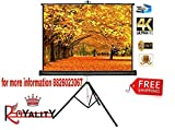 Royality Industries Tripod Stand Projector Screen (6 Ft. (Width) x 4 Ft. (Height) - 84') Diagonal in 4:03 Ratio Aspect, Ultra HD, 4K Technology, Active 3D …